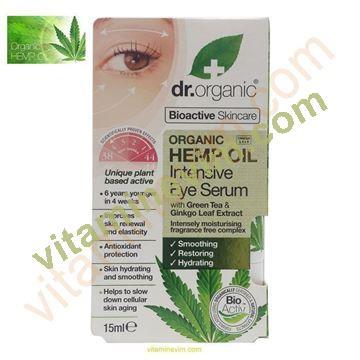 Dr. Organic Hemp Oil Eye Serum 15 Ml