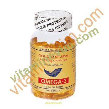 Gold Natural Omega-3 1000mg 100 softgels