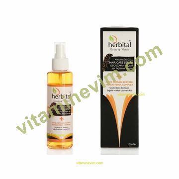 Herbital hair care serum.