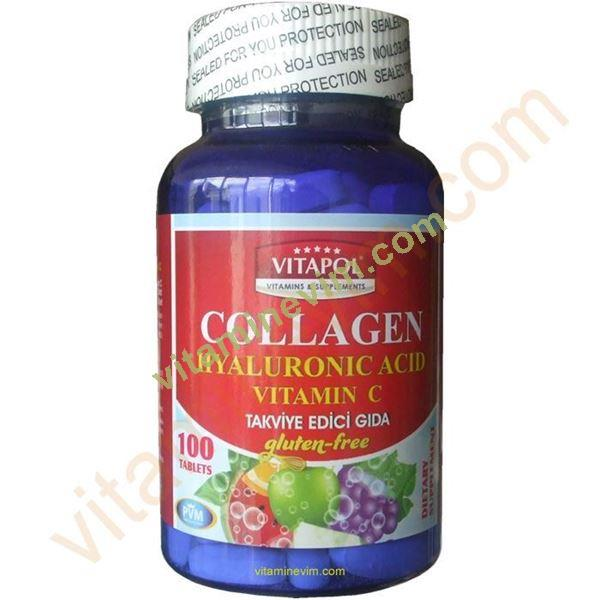 Vitapol Collagen Hyaluronic Acid Vitamin C 100 Tablet